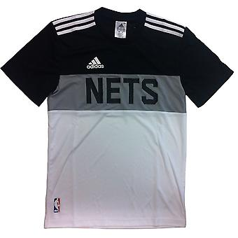 ADIDAS Brooklyn Nets basketball  t-shirt [black/Grey/white]