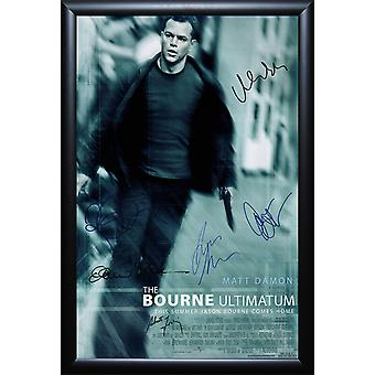 The Bourne Ultimatum - Signed Movie Poster