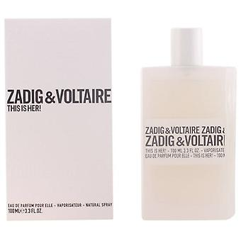 Zadig & Voltaire This Is Her Eau De Parfum Vapo 100 ml