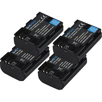 4 x Dot.Foto Canon LP-E6 Replacement High Capacity Battery - 7.4v / 2200mAh