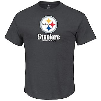 Majestic OUR TEAM shirt - Pittsburgh Steelers charcoal