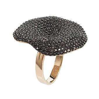 Alessandra Cocktail Ring Rosegold Chocolate CZ