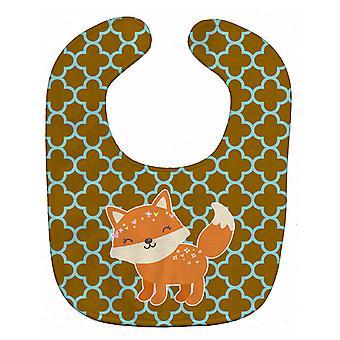 Carolines Treasures  BB6939BIB Fox on Quatrafoil Baby Bib