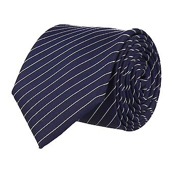 OTTO KERN narrow tie silk tie Navy striped