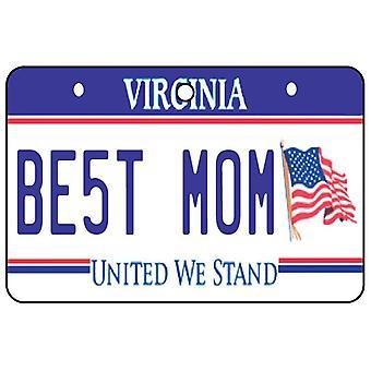 Virginia - Best Mom License Plate Car Air Freshener