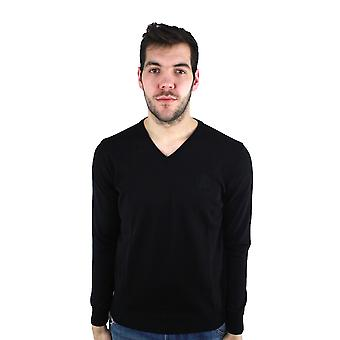 Roberto Cavalli FSM604MQ030 05051 Black V-Neck Sweater