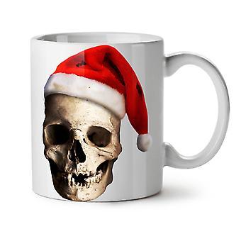 Calavera sombrero Santa nuevo té blanco taza de café de cerámica 11 oz | Wellcoda