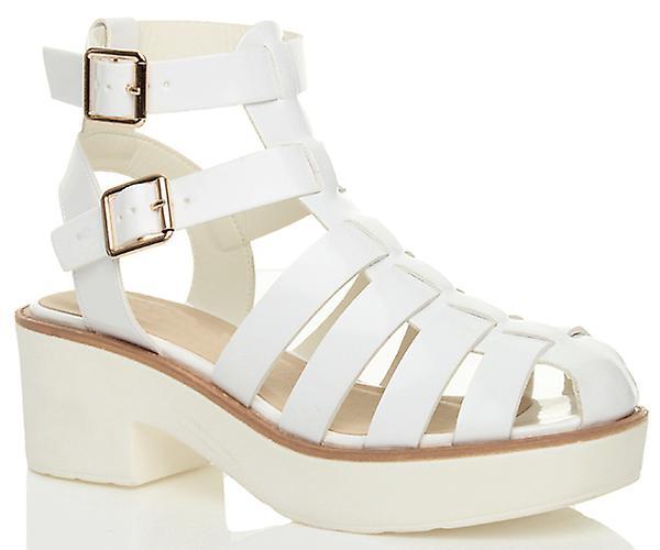 ajvani  s chunky talon de chaussures à plate plate plate - forme sandales gladiateur coupé 4cc9a1