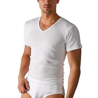 Mey 2807 Men's Noblesse White Pima Cotton V-Neck Short Sleeve Top