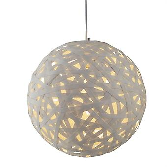 Avalon Large White Paper Rattan Pendant - Searchlight 3501-50wh