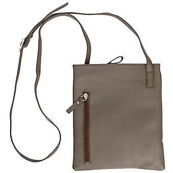 Las señoras de cuero de lujo cruzan bolsa de plástico pequeña mano hombro bolso caso con bolsa de polvo