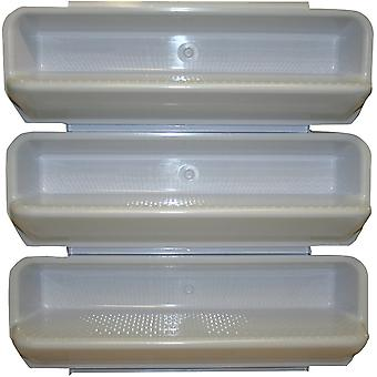 Pentair PacFab 82400700 White ABS Steps - Set of 3