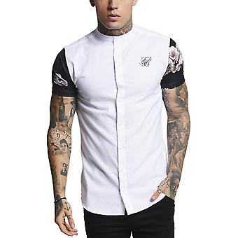 Sik Silk Contrast Oxford Short Sleeve Shirt