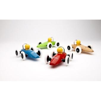Brio Race Car 30077 Red, Blue, Green, Natural or White Toddler Wooden Toy