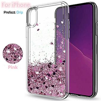 iPhone 8-Floating Glitter 3D Bling Skin Hoes
