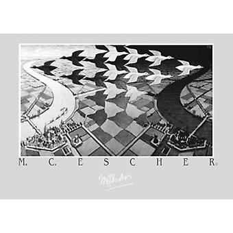 Dia e noite Poster Print by MC Escher (27 X 19)