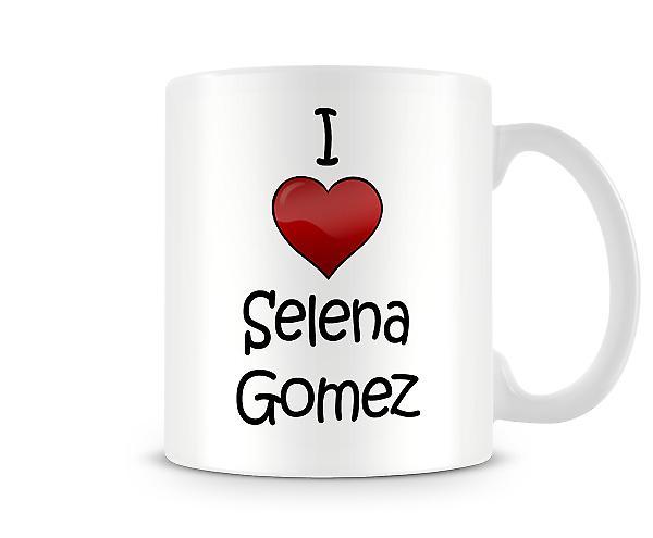 Selena Gomez imprimé J'aime la tasse