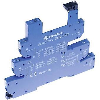 Relay socket + bracket, + LED, + EMC emission supressor 1 pc(s) Finder 93.63.0.240 Compatible with series: Finder 34 series Finder 34.51, Finder 34.81