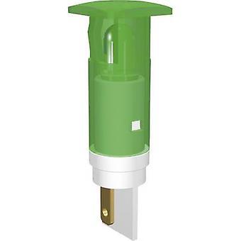 Signaal construeren LED lampje Ultra groene vierkant 230 V AC SKHU10728