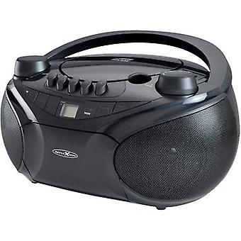 Reflexion RCR4655 FM Radio/CD AUX, CD, Tape, SD, USB, FM Black