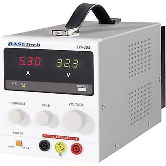 Basetech BT-305 Bench PSU (Voltages regelbaar) 0 - 30 Vdc 0 - 5 A 150 W nr. van uitgangen 1 x