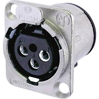 XLR connector Sleeve socket, straight pins Number of pins: 3 Silver Neutrik NC3FD-V 1 pc(s)