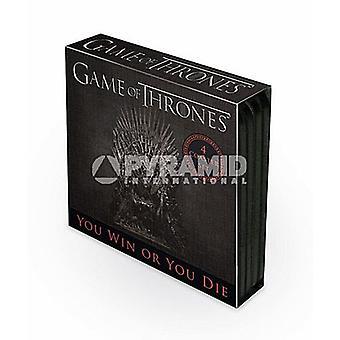 Game Of Thrones-Satz von 4 Kork unterstützt Getränke Untersetzer