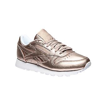 Reebok classic leather sneaker melted metal gold