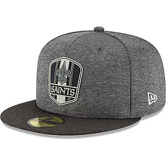 New era 59Fifty Cap - Black sideline New Orleans Saints