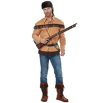 Frontier Man Davy Crockett Pioneers American Political Patriotic Mens Costume