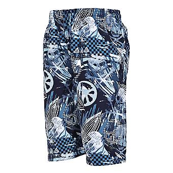 Zoggs Junior Boy's Raiders Swimming Shorts Black/Blue for 6-15 Years Children