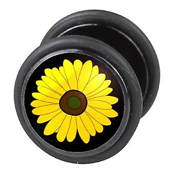 Fake Cheater Ear Plug, Earring, Body Jewellery, Sunflower