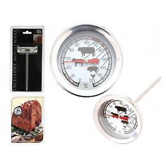 Meat thermometer analogue stainless steel