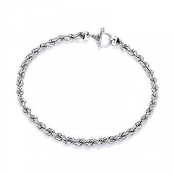 Cavendish French Sterling Silver Classic Rope Necklace