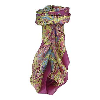 Mulberry Silk Traditional Square Scarf Lin Carnation by Pashmina & Silk