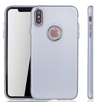 Apple iPhone XS Max Hülle - Handyhülle für Apple iPhone XS Max - Handy Case in Silber