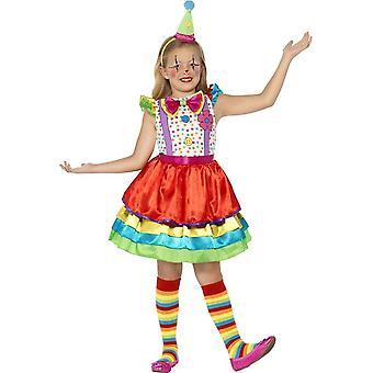 Deluxe Clown Girl Costume, Medium Age 7-9