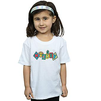 Disney Girls Mickey Mouse Fruit Blocks T-Shirt