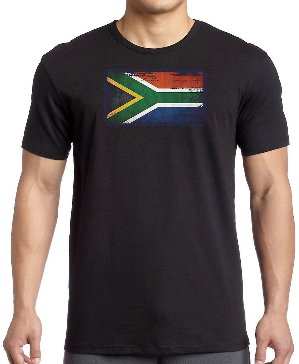 South African South Africa Grunge Flag Kids T Shirt