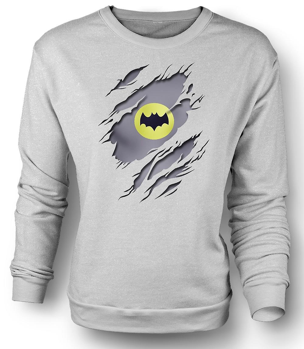 Mens Sweatshirt Batman sous chemise effet - Superhero Movie