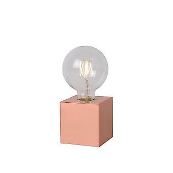 Lâmpada de mesa cobre Metal lucide Cubico Vintage Square