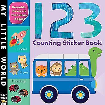 Livre de collants pour le comptage 123 (mon petit monde)