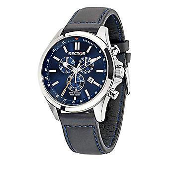 Sector 180 180 Dial Strap men's wristwatch Chr, blue