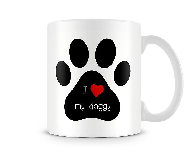 Decorative Writing I Love My Doggy Mug