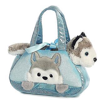 Peek-A-Boo Husky Stuffed Animal Purse by Aurora