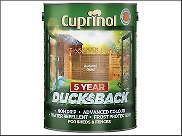 Cuprinol Ducksback 5 Year Waterproof for Sheds & Fences Autumn Gold 5 Litre