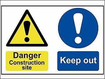 Scan Danger Contruction Site Keep Out - PVC 600 x 400mm