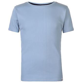 Pierre Cardin Mens ribbad Crew T Shirt Neck Tee Top Kortärmad Lightweight