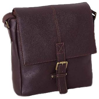 Ashwood Leather Chelsea Veg Tan Murphy Flight Body Bag - Chestnut
