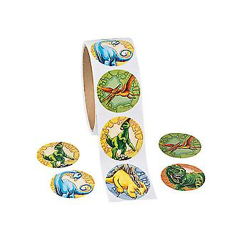 Rollen van 100 dinosaurus Stickers voor Kids Crafts